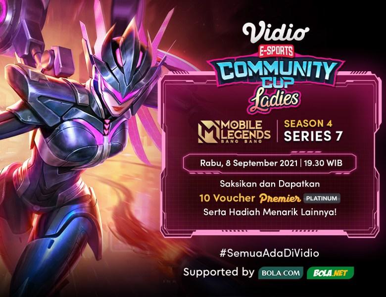 Live Streaming Vidio Community Cup Ladies Season 4 MLBB