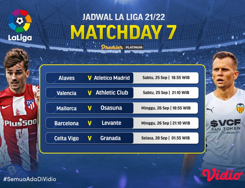 Jadwal Live Streaming La Liga Spanyol 2021 Jornada 7