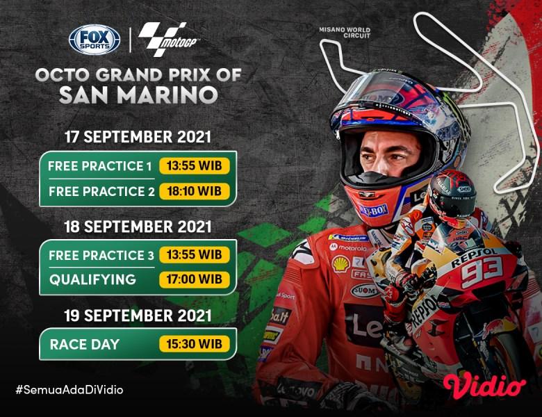 Live Streaming MotoGP San Marino 2021 Pekan Ini di FOX Sports