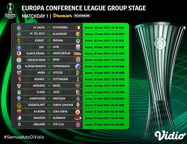 Live Streaming Liga Konferensi Eropa 2021/22 Matchday 1