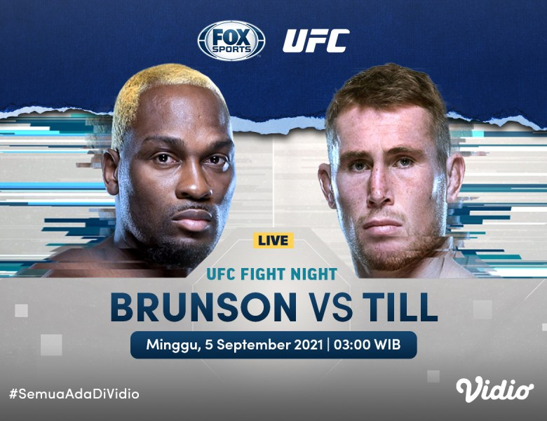 Link Live Streaming UFC Vegas 36 Brunson Vs Till FOX Sports