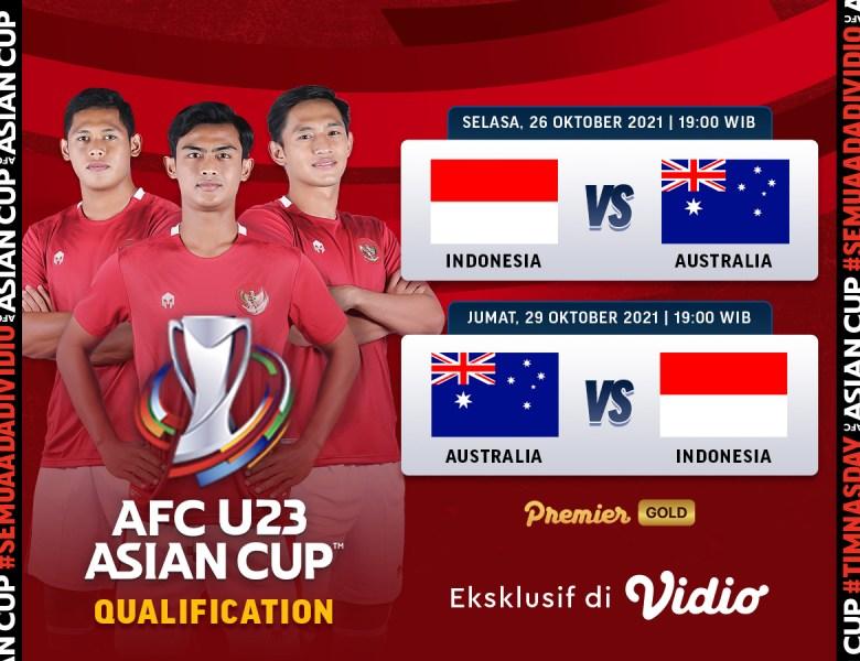 Link Live Streaming Kualifikasi Piala Asia U-23 2022 Indonesia Vs Australia