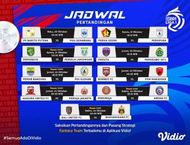 Jadwal Lengkap Streaming BRI Liga 1 2021 Pekan Kedelapan