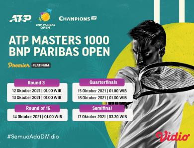 Jadwal Live Streaming Lanjutan ATP Tour Indian Wells Masters 2021