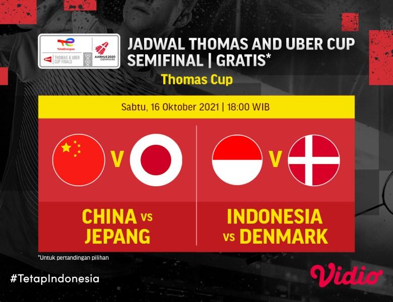 Selangkah Menuju Final Thomas Cup 2020, Ini Jadwal Streaming Indonesia di Semifinal