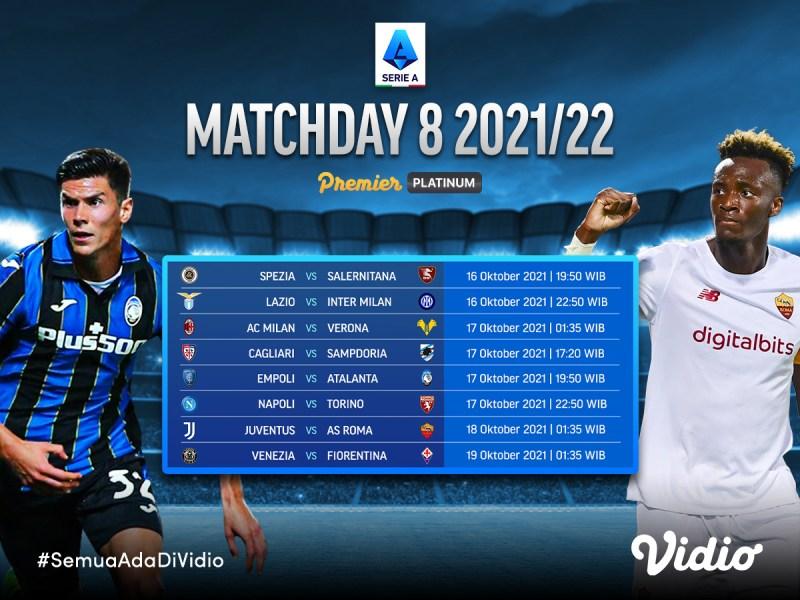 Ini Jadwal Live Streaming Serie A Italia 2021/22 Giornata 8