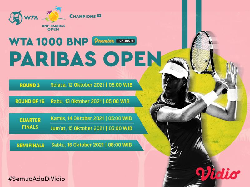 Live streaming Lanjutan WTA Tour Indian Wells Masters 2021