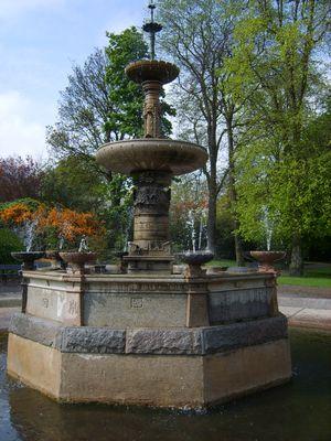 victorian garden fountain Victoria Park Gardens Aberdeen