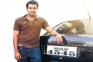 Rohit Sharma with his Car Skoda Laura