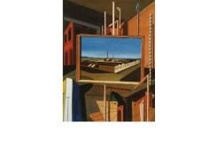 Interno metafisico (con grande officina) 1916, Ferrara Olio su tela, cm 96,3 x 73,8 Staatsgalerie, Stuttgart