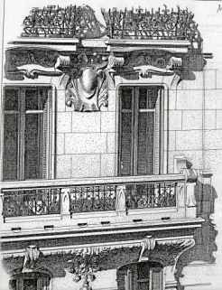 Balcony of 26, Cours Lieutaud at Marseille