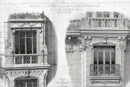 Bow-window of 26, Cours Lieutaud at Marseille