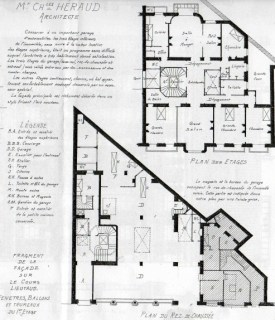Floor plan of 26, Cours Lieutaud at Marseille