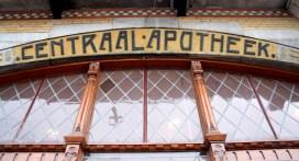 Shop window Detail of Centraal Apotheek Leeuwarden