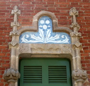 Tile Panels at Hospital de la Santa Creu i Sant Pau