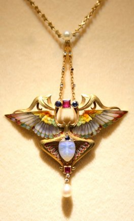 Art Nouveau Necklace, Epoque Fine Jewels (BRAFA 79c)