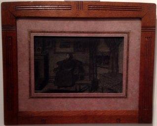 Femme dans son intérieur, 1895, Xavier Mellery, Lancz Gallery (BRAFA 15d)