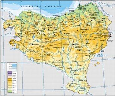 Mapa Fisico De Euskal Herria Para Imprimir.Una Decripcion Minimalista Pero Hermosa Del Pais Vasco