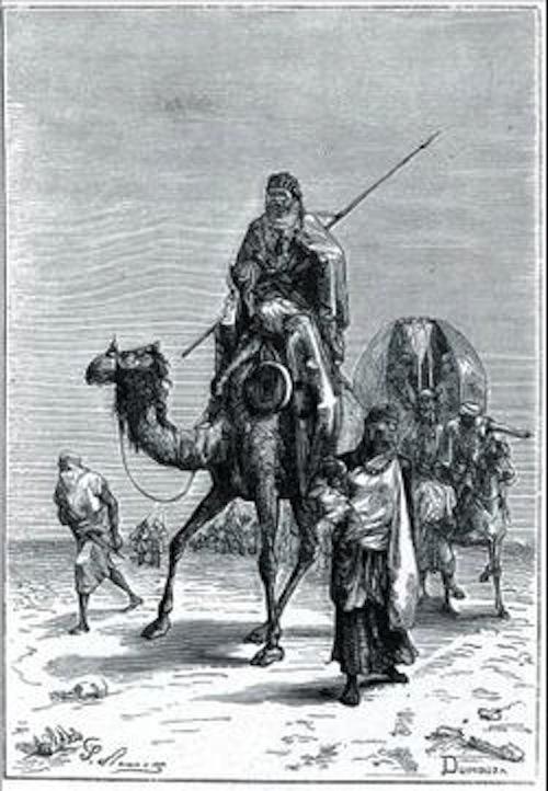 Grabado que representa a Benjamín de Tudela