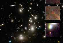 This is a NASA/ESA Hubble Space Telescope image of the huge galaxy cluster Abell 2744, taken using the Wide Field Camera 3 and Advanced Camera for Surveys. Credit: NASA, ESA