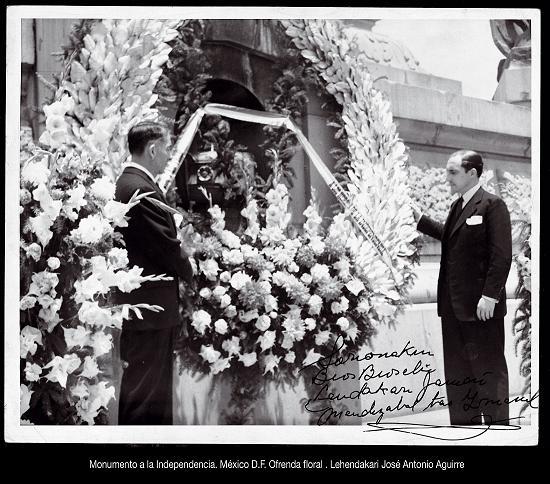 El Lehendakari Aguirre en su visita a Mexico de 1942