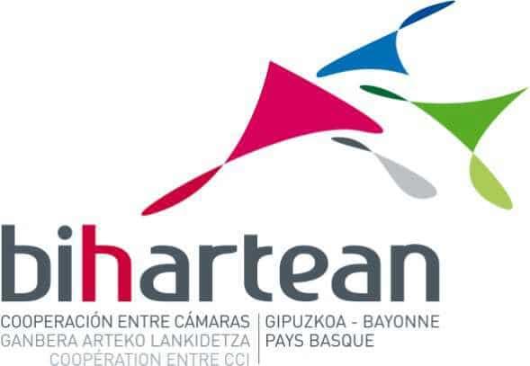 Logo lde a cámara de comercio transfronteriza Bihartean (Gipuzkoa y Bayonne Pays Basque)