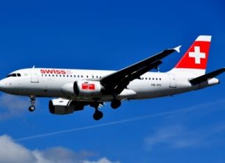Swiss Air en bilbao