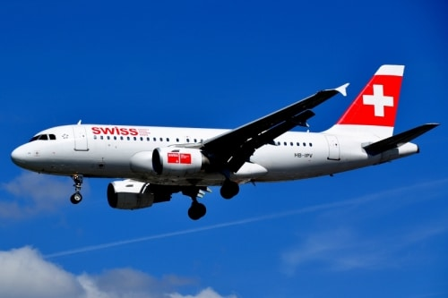 Swiss Air en bilbao