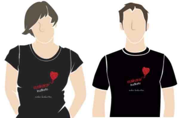 """Camisetas de premio en el concurso """"Euskara irudikatu"""" del Día Internacional del Euskera"""