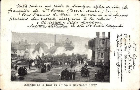 Indencie de la nuit du 1er au 2 Novembre 1902 (Akpool)