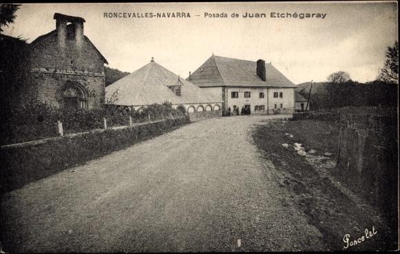 Ansichtskarte / Postkarte Roncevalles Navarra Spanien, Posada de Juan Etchégaray (akpool)