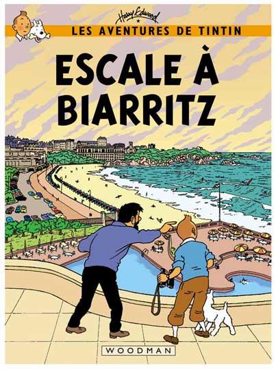 Tintin. Escale a Biarritz. Pastiche de Harry Edwood