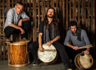 Kalakan's music spans three part chants, folk and dance music, to purely percussive interludes, mainly with roots in traditional Basque music, while borrowing rhythms and ideas from other cultures such as Brazil. -- PHOTO: THE ESPLANADE