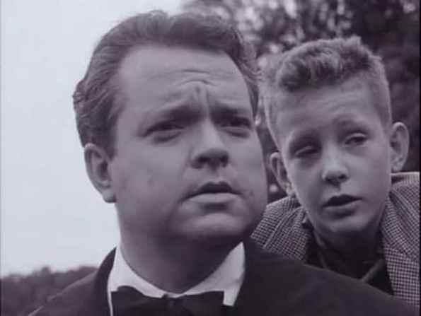 Orson Welles y Chris Wertenbaker en un fotograma del documental del director norteamericano sobre los Vascos