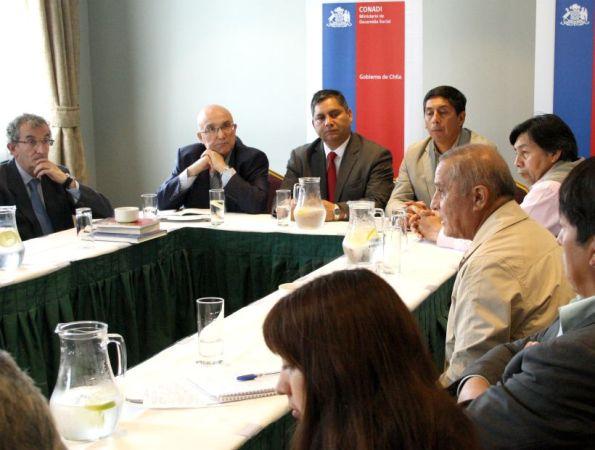 En una reunión de trabajo, autoridades europeas y Conadi compartieron experiencias sobre lenguas originarias. (Conadi)