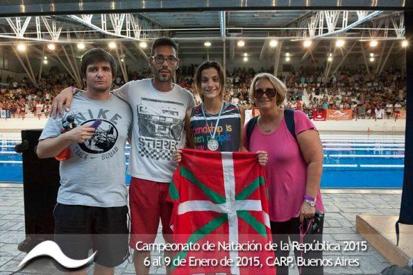 Vasco-argentinos en el Campeonato República de Natación Cadetes y Juveniles