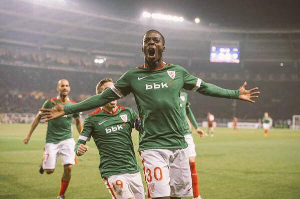 Iñaki Williams celebrando su gol al Torino