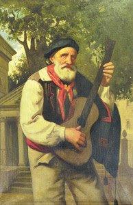 Representación de el Bardo Iparragirre ante al Árbol de Gernika