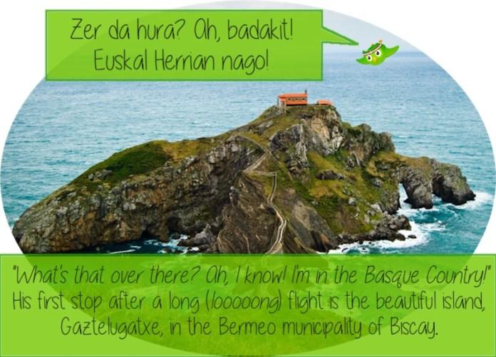Duolingo visita el País Vasco... y le gusta