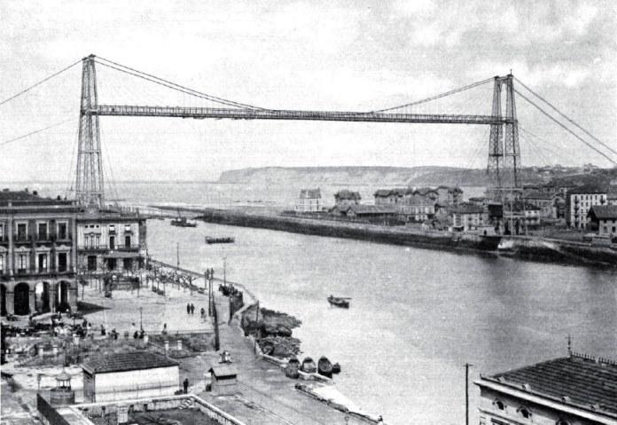 """Puente Bizkaia. El primero de los """"Puentes-transbordadores del Mundo"""""""