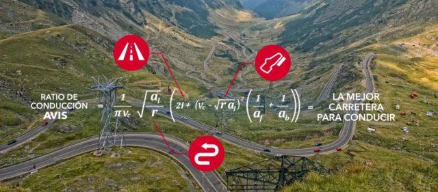 formula para calcular la mejor carretera del mundo segun AVIS