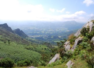 Looking eastwards across the French Basque country (Image: Jean Cousseau)