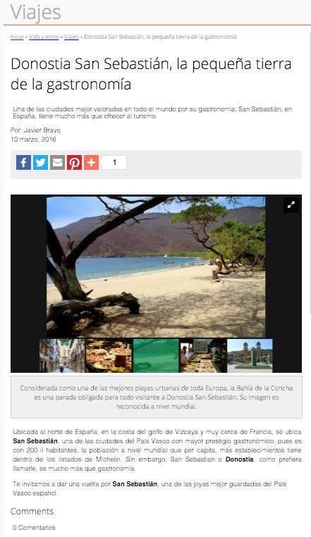 "La ""Bahia de la Concha"" tropical en Fahrenheit"