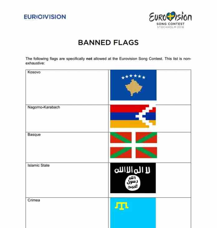 listado banderas especialmente prohibidas eurovision 1