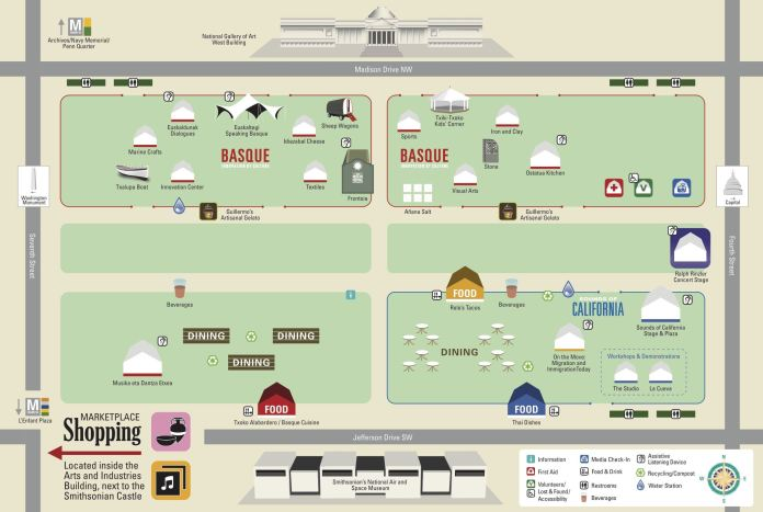 Mapa del folklife festival 2016