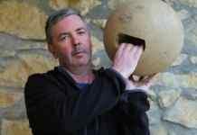 Juan Mari Aurtenetxe will demonstrate traditional Basque bowling, which uses a wooden ball. (Cristina Diaz-Carrera)