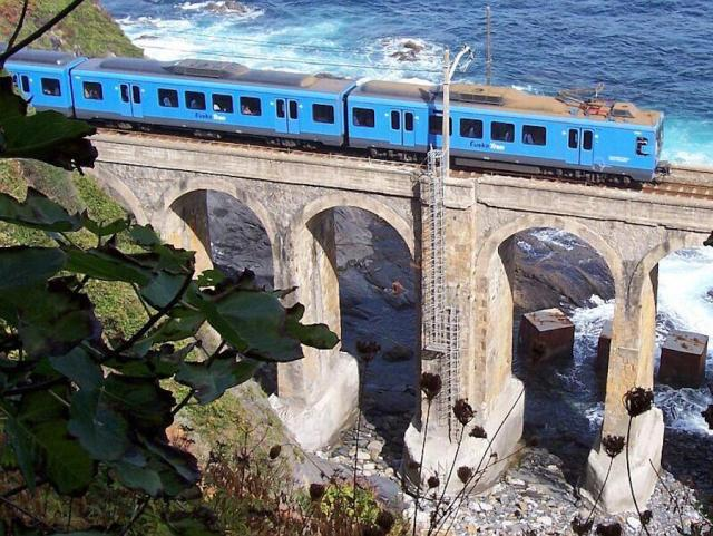 Euskotren unit on the Basque Coast (photo courtesy Günther Glauz)