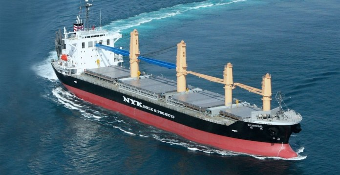 Un buque de NYK una de las dos compañías, junto con Licvem, que ofrecen esa nueva conexión marítima Africa Occidental -Bilbao
