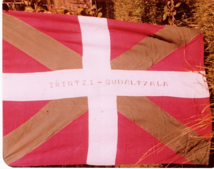 Flag of the Irrintzi Battalion in which Irishman Jack Prendergast fought