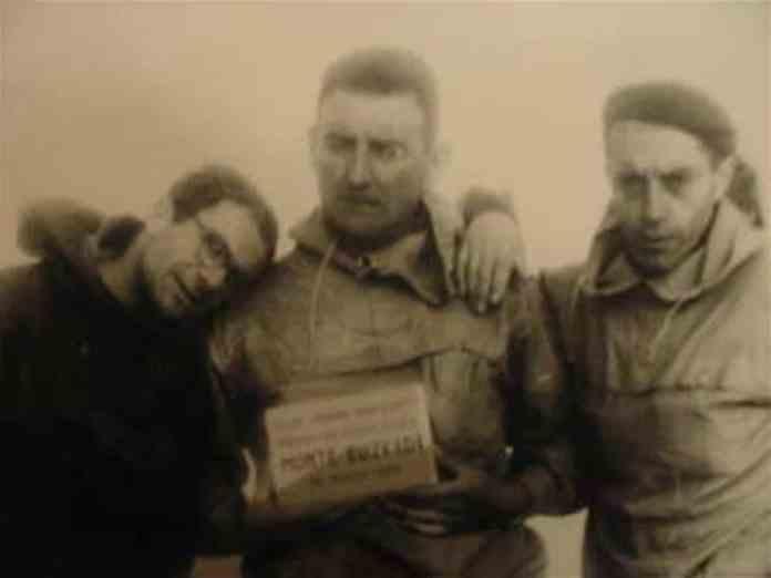 """Agapito Palacios, and other Basques, named the """"Cerro Euzkadi"""" outside Santiago de Chile"""